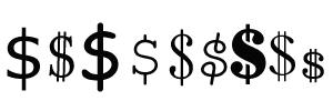 6 Dollar Sign Font Images