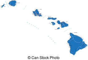 Map Hawaiian Islands Clip Art