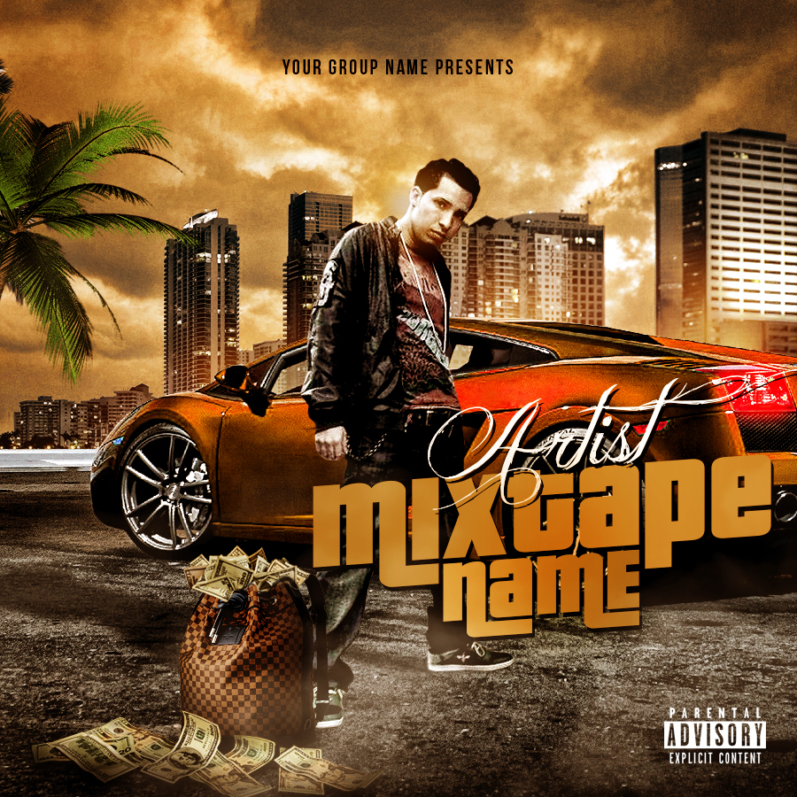 Mixtape Cover PSD Template