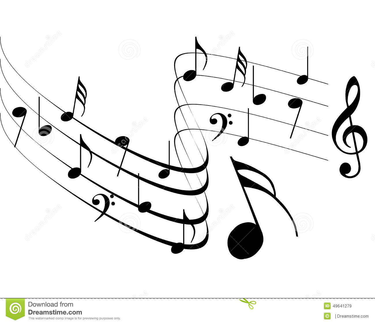 Music Clip Art Black and White Designs