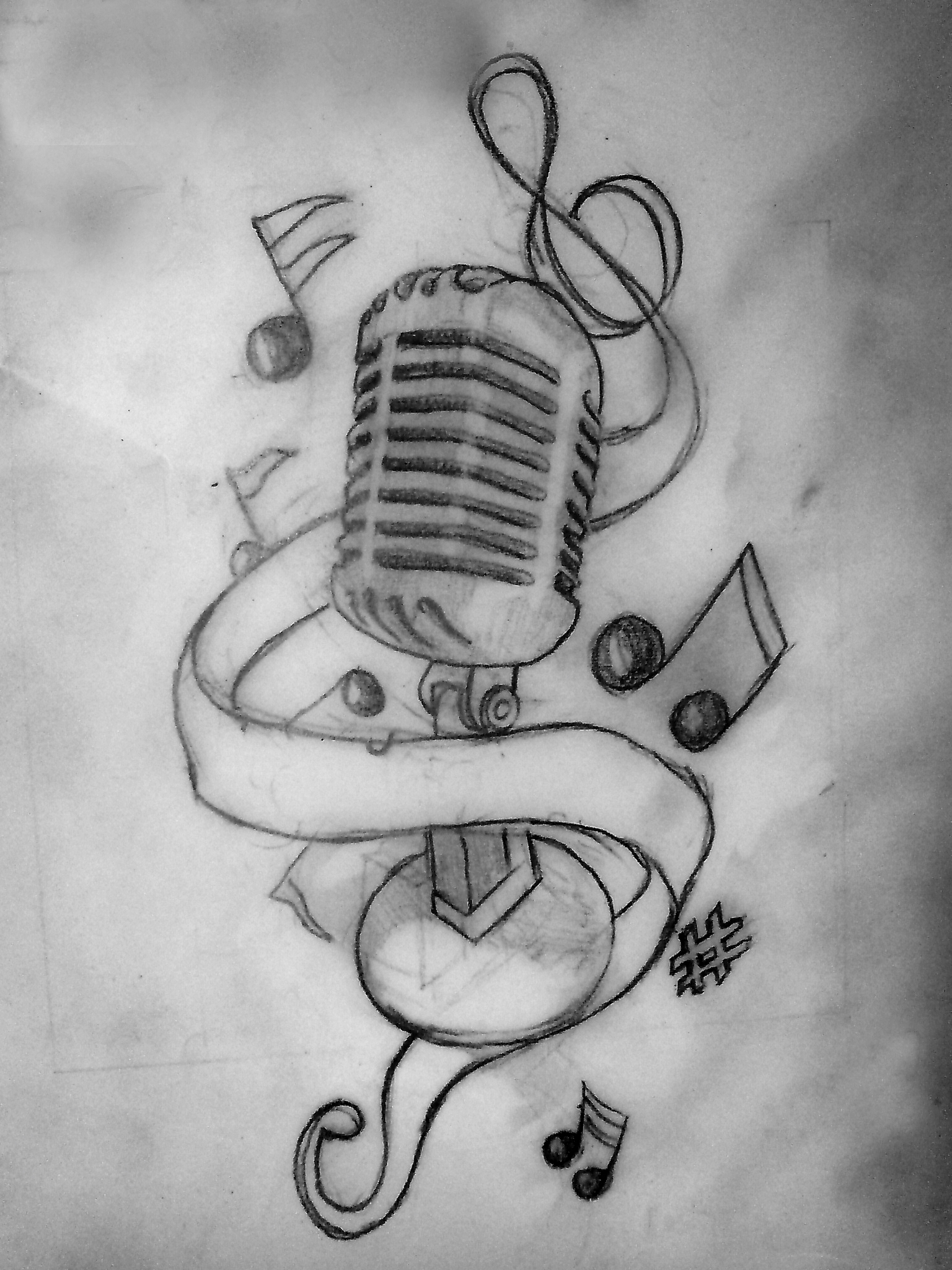 Music Note Tattoo Drawing Designs