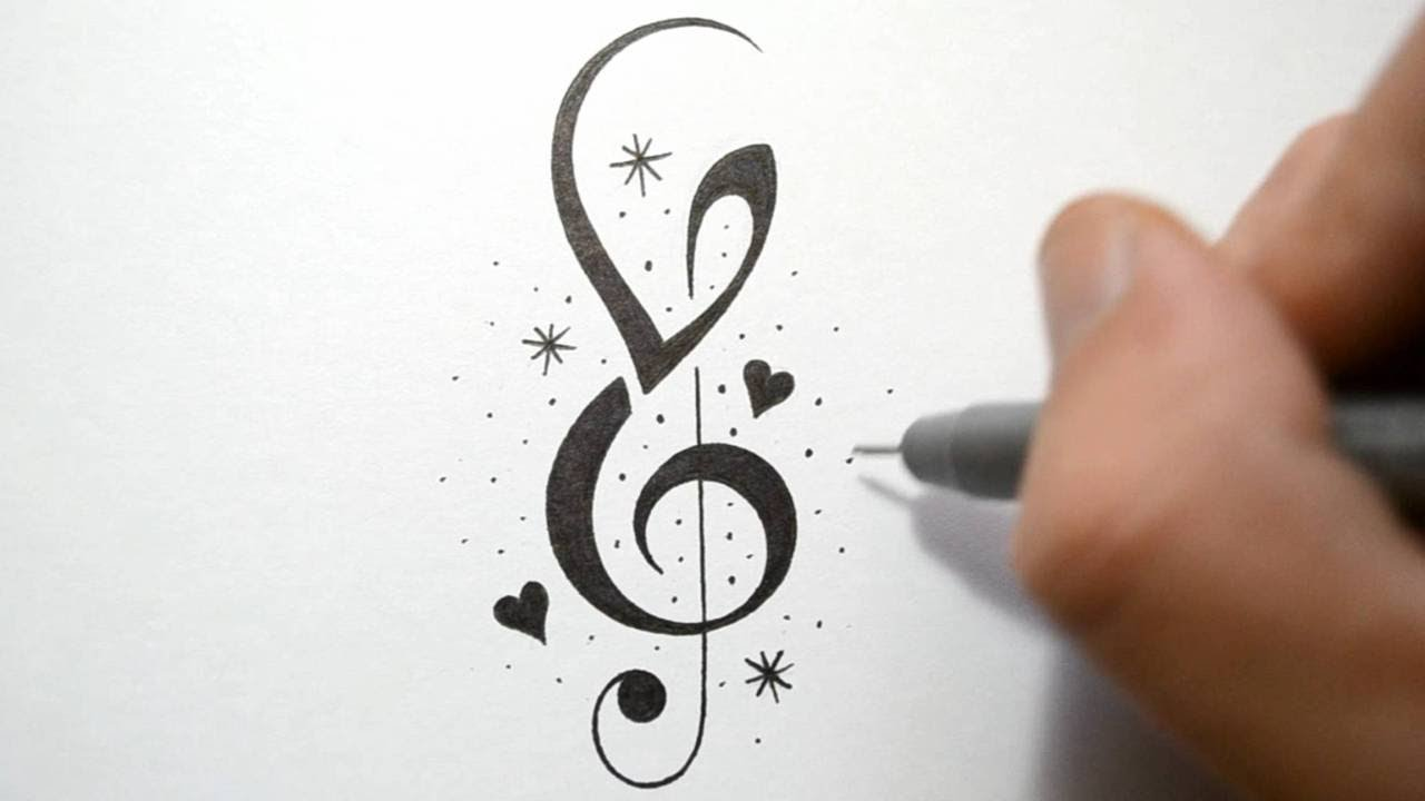 16 Cool Designs To Draw Music Notes Images