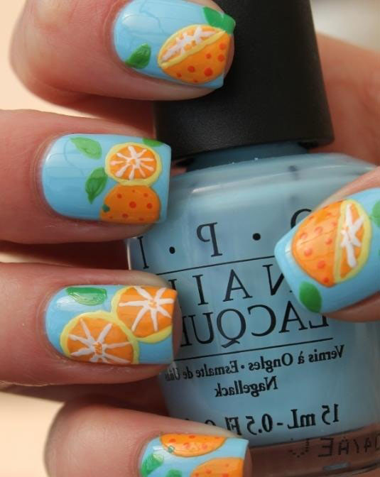 Nail Designs with Orange