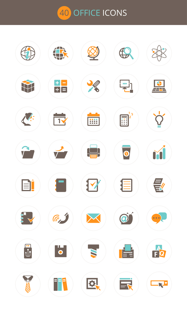 8 Office Icon Set Images