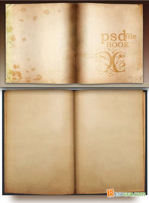 Open Book Template Photoshop