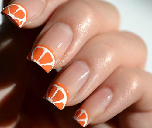 13 Fruit The Orange Toe Nail Designs Images
