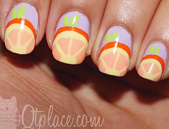 Orange Fruit Nail Designs