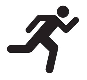 People Running Away Clip Art