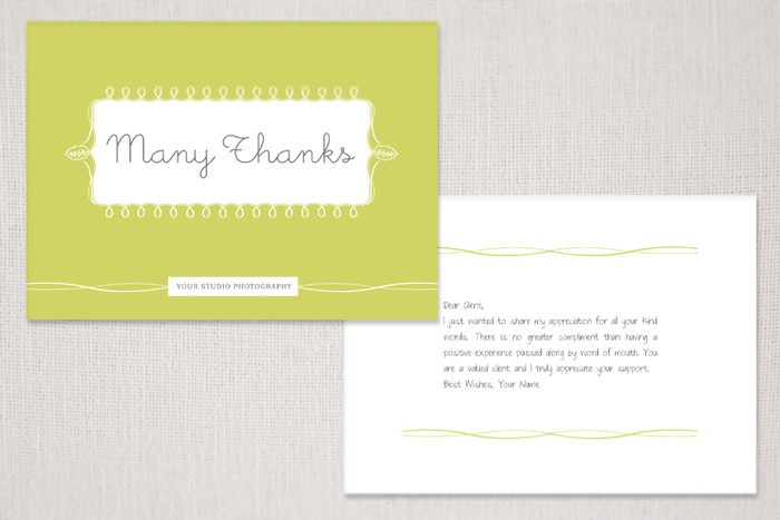 Photographer Thank You Note to Client