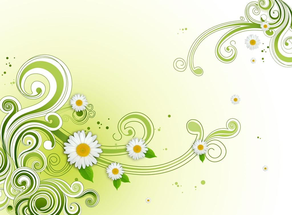 Photoshop Green Flower Wallpaper
