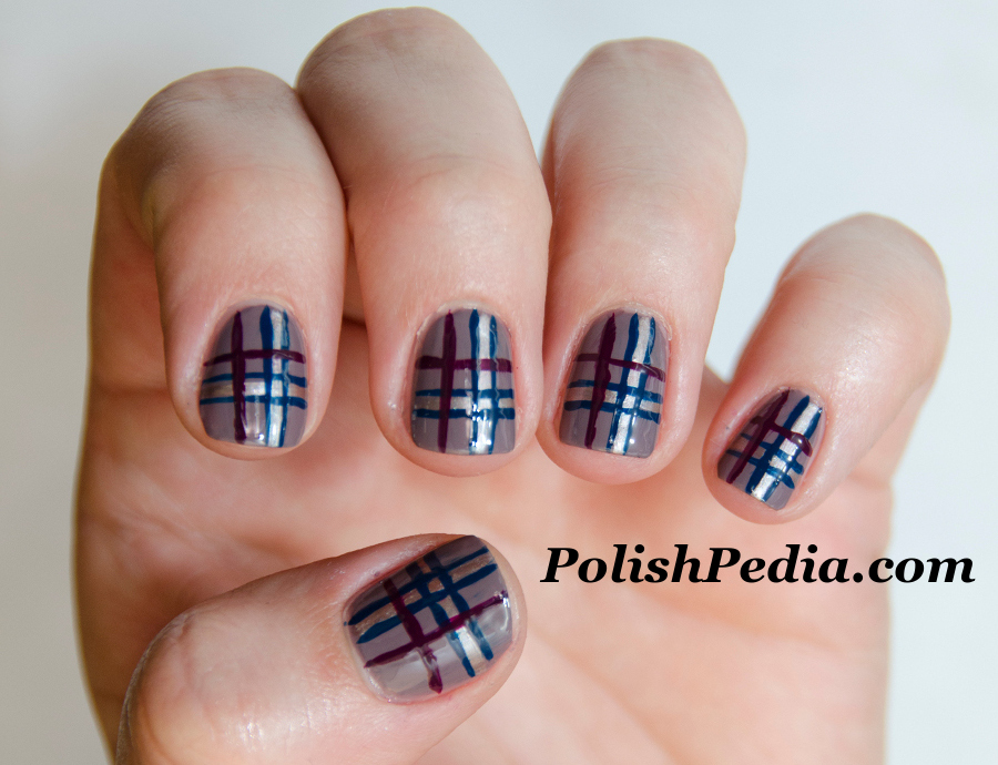 14 Plaid Nail Designs Images