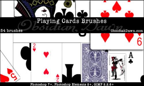 Playing Card Brushes Photoshop
