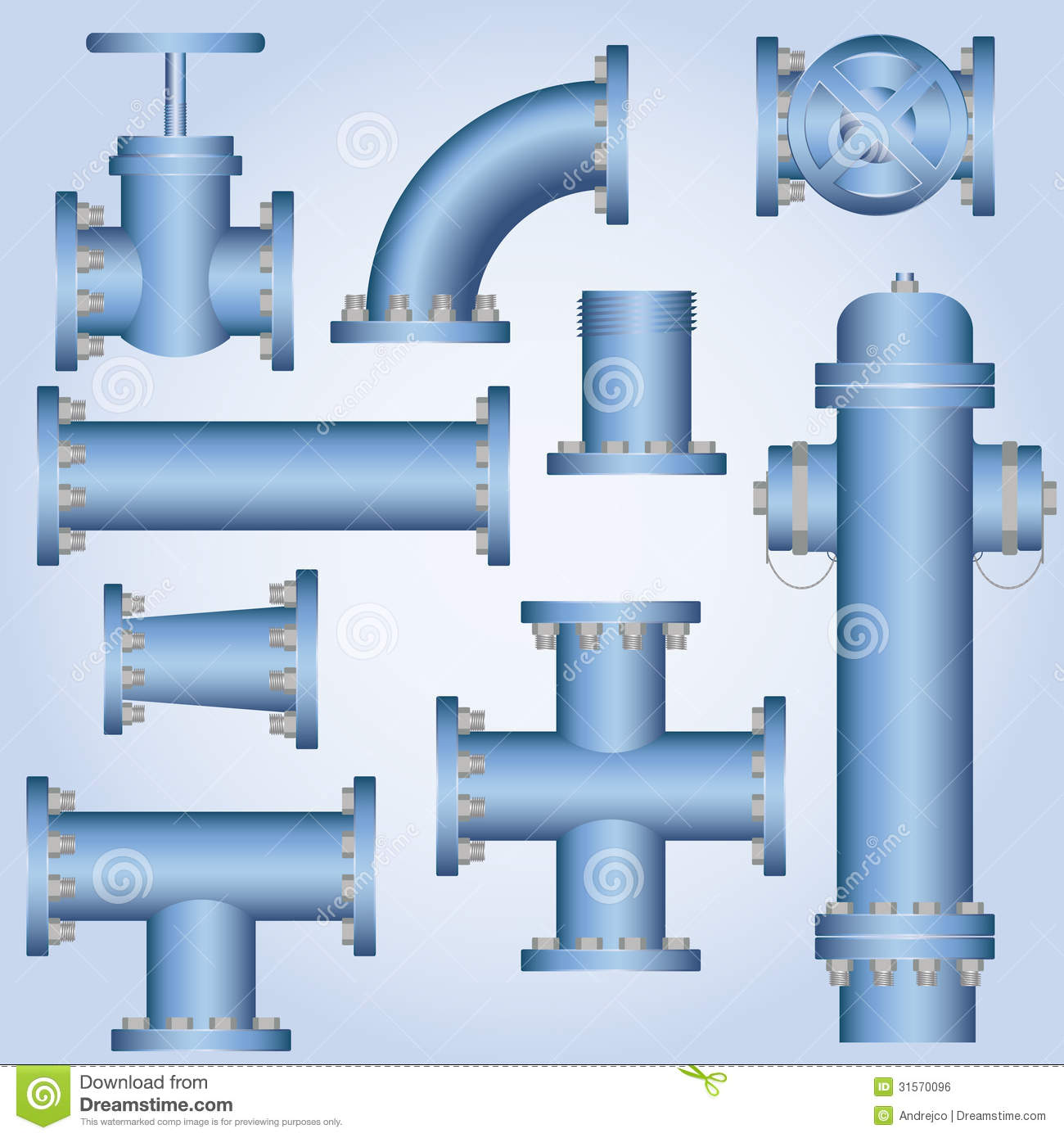 8 water pipes vector graphic images pipeline for Best pipes for plumbing