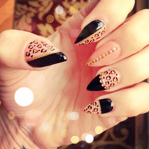 12 Cute Pointy Nail Designs Images