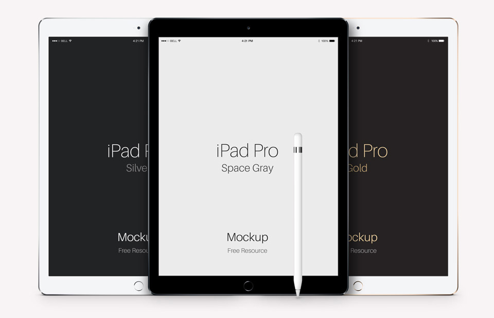 Pro iPad Vector Template