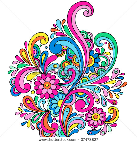 Psychedelic Flower Paisley