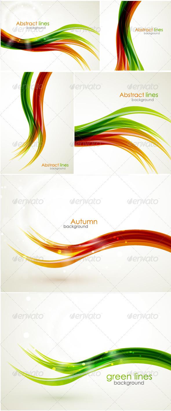 Restaurant Logo with Orange Wavy Lines