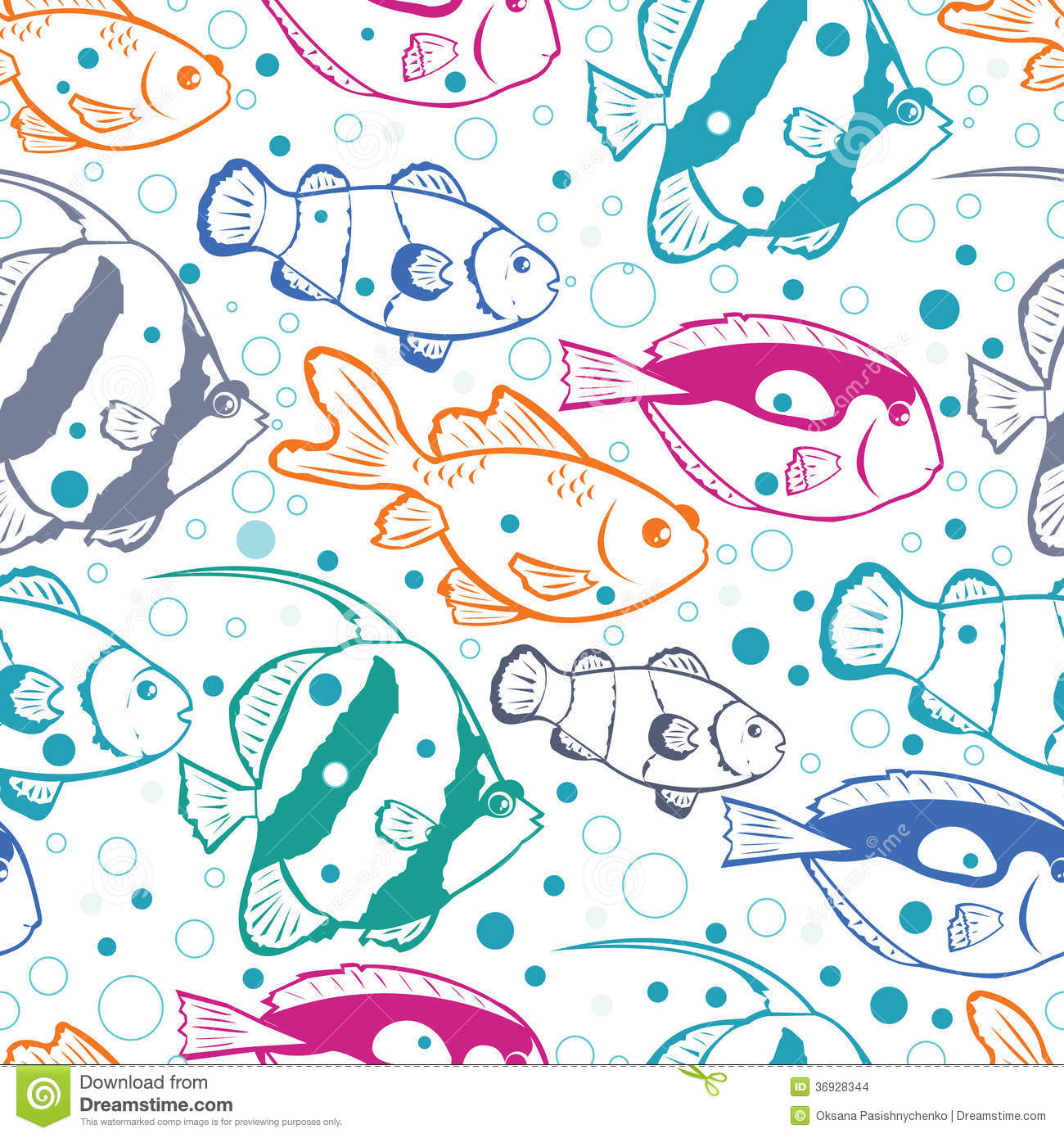 13 Fish Pattern Vector Images