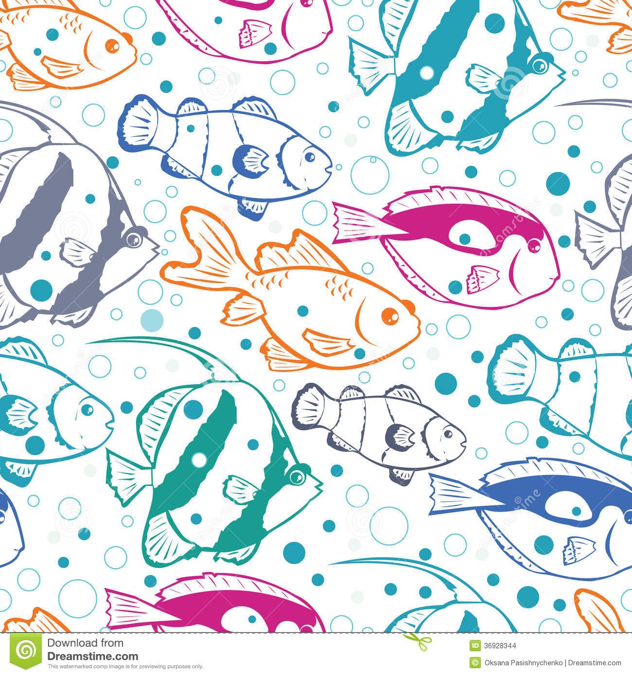 Seamless Patterns Scrapbook Fish