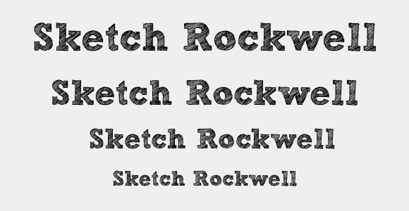 Sketch Rockwell Font Free