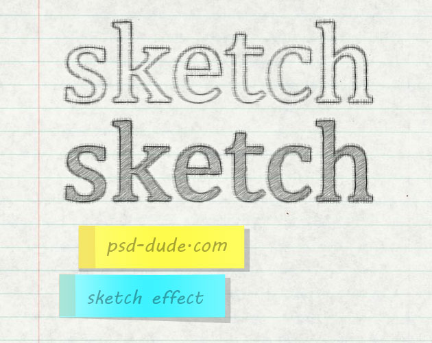 Sketch Text Effect Tutorials in Photoshop