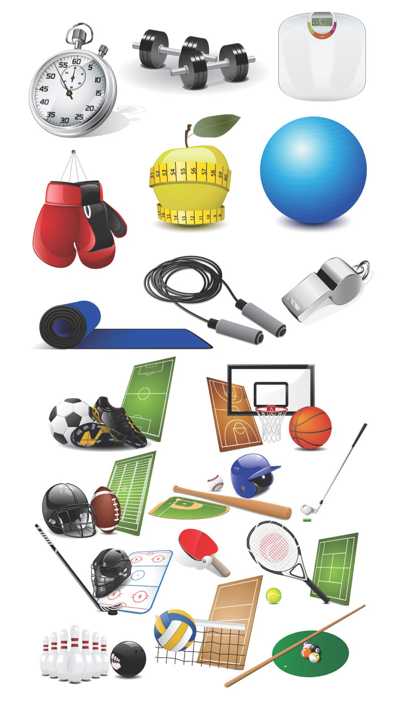 13 Free Sports Vector Clip Art Summer Images
