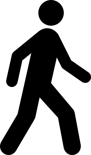 Stick Person Walking Clip Art