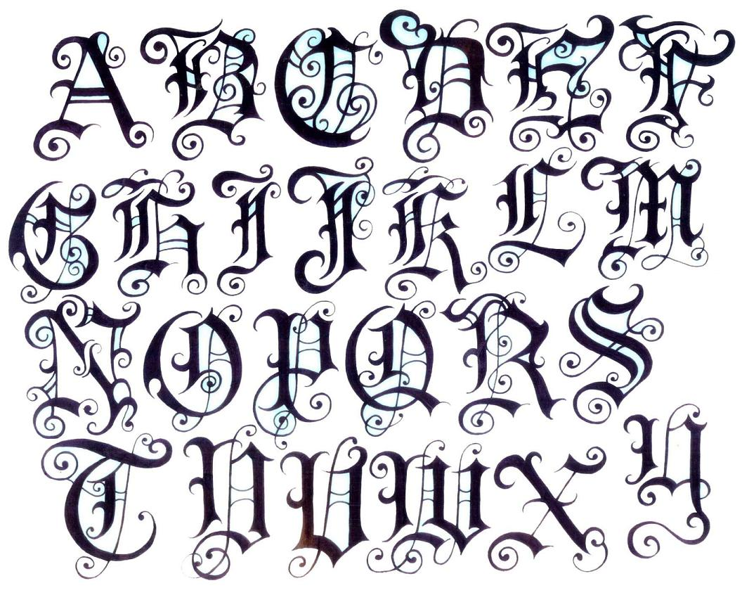 Tattoos Fonts Lettering Styles