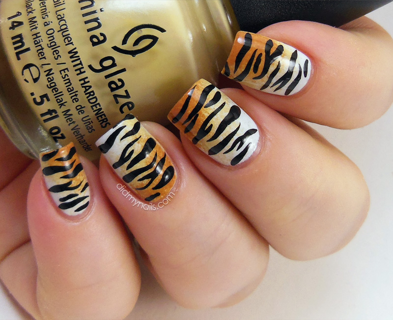 12 Tiger Print Nail Designs Images