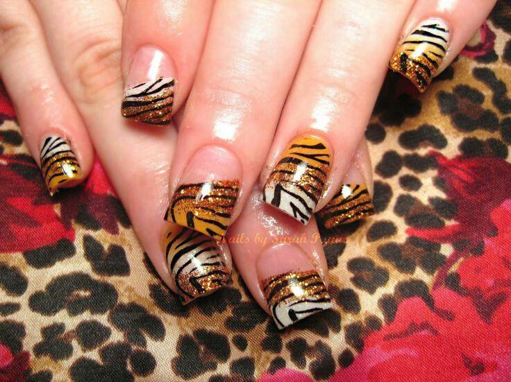 Tiger design nails gallery nail art and nail design ideas tiger print nail designs choice image nail art and nail design ideas tiger nail designs images prinsesfo Image collections