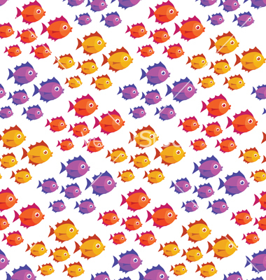 Tropical Fish Pattern Vector