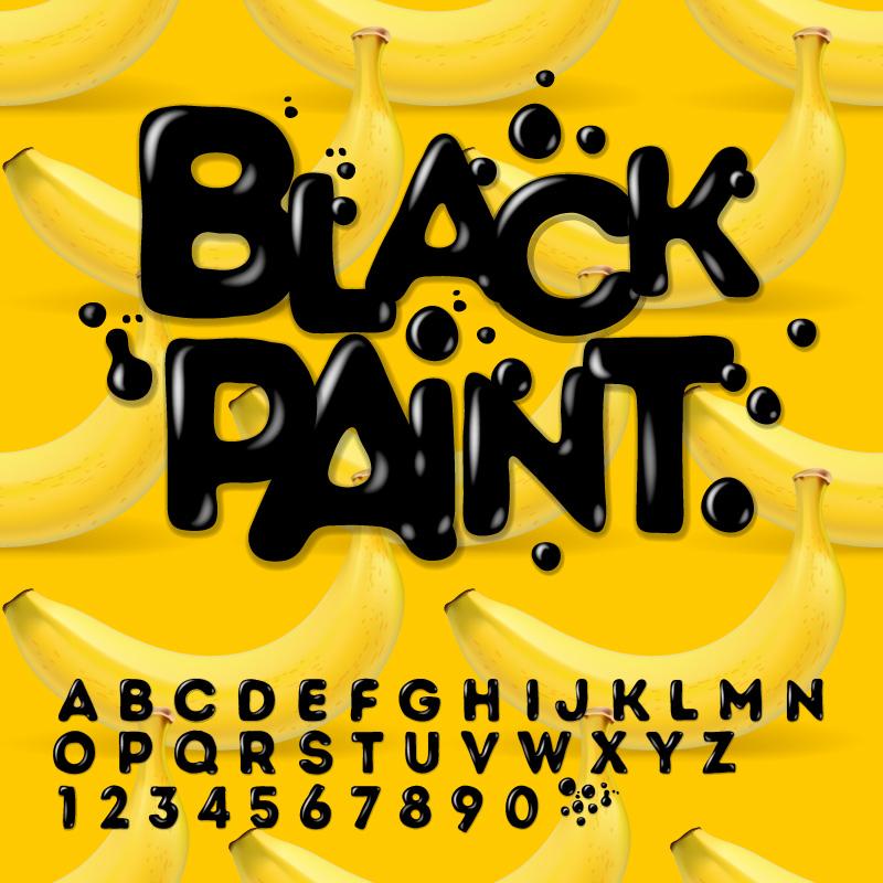 11 Paint Font Design Images
