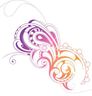 Vector Paisley Swirls