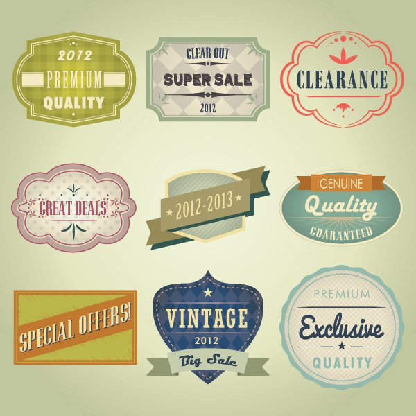 11 Vintage Sign Vector Art Images