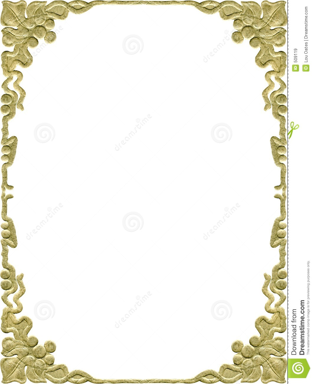 Vintage Gold Frame Border Design