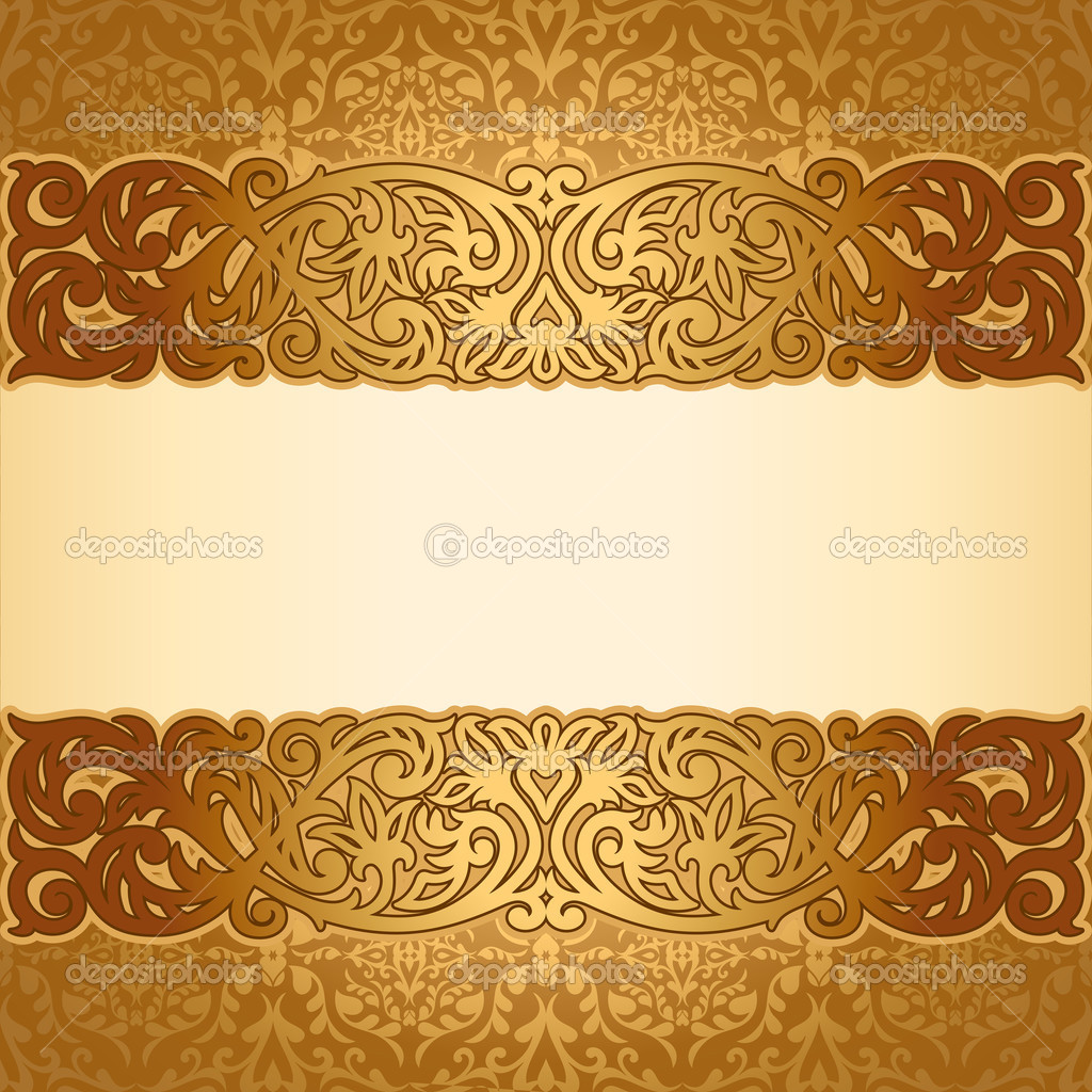 Vintage Golden Frame Border Design