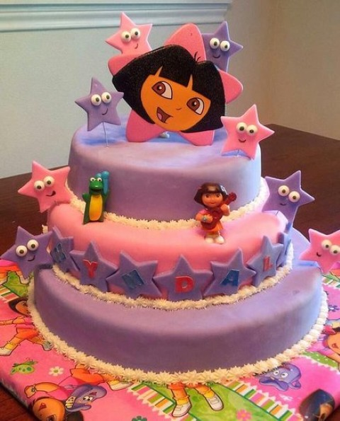14 Dora Birthday Cakes With PSD Images