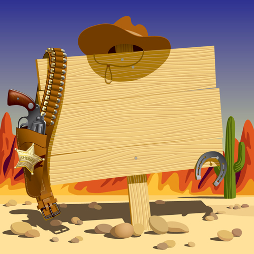 11 Wild West Vector Images