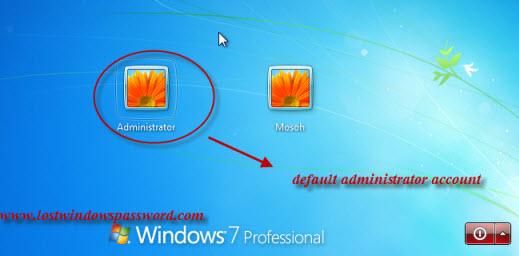 administrator login windows 7