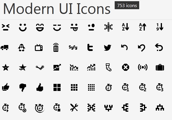 13 Windows Modern UI Icons PNG Images