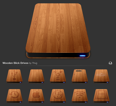 14 Wooden Mac Folder Icons Images