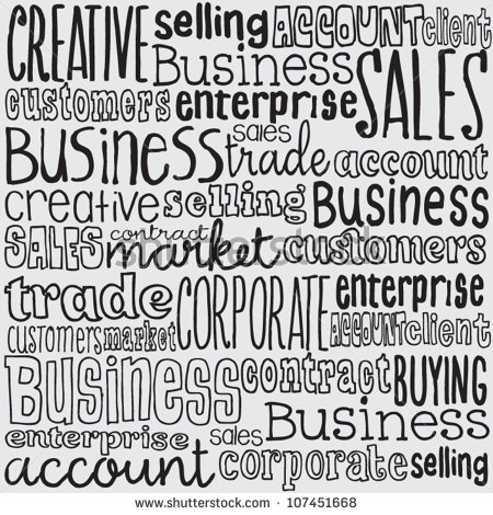 12 Vector Business Words Images