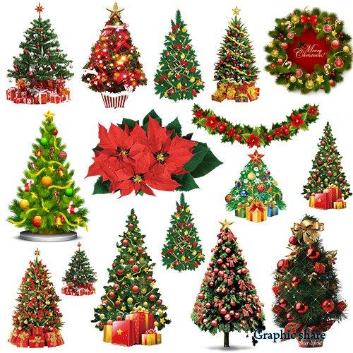 2015 Christmas Tree Clip Art