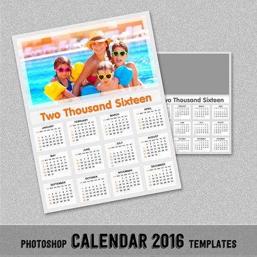 2016 Calendar Template Photoshop from www.newdesignfile.com