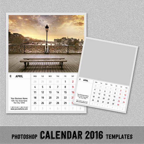 Calendar Template For Photoshop from www.newdesignfile.com