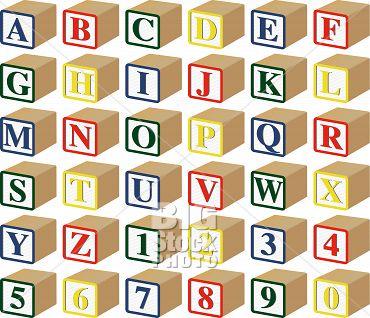 8 3D Block Letter Font Images