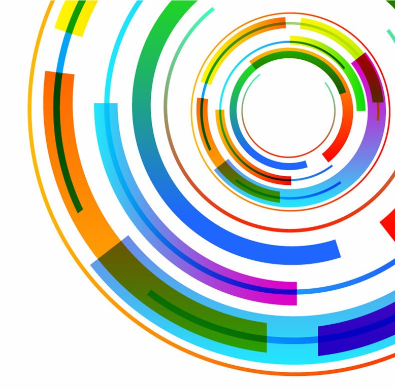 Circle Design Art : Abstract circles background vector images