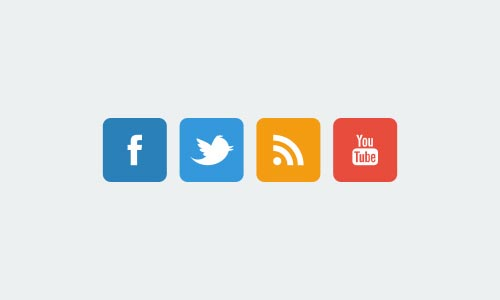 17 Flat Social Network Icons Images