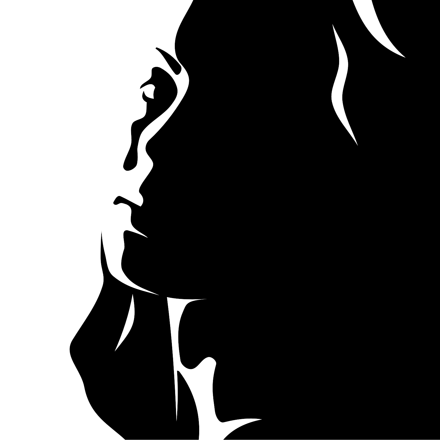 11 Woman Face Silhouette Vector Images