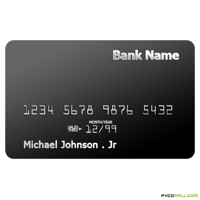 Black Credit Card Template Photoshop